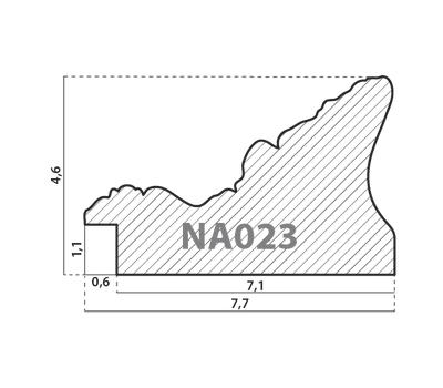 Деревянный багет NA023.1.356, ш: 7.9см в: 4.9см, фото 2