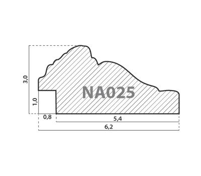 Деревянный багет NA025.1.075, ш: 6.2см в: 3см, фото 2