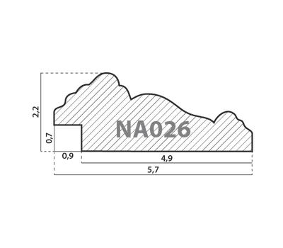 Деревянный багет NA026.0.060, ш: 5.7см в: 2.2см, фото 2