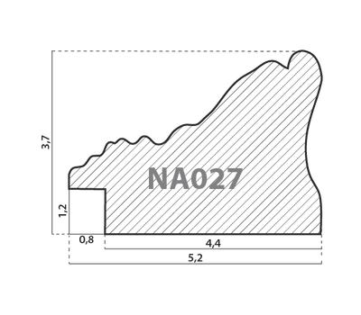 Деревянный багет NA027.1.011, ш: 5.2см в: 3.7см, фото 2