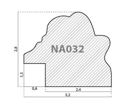 Деревянный багет NA032.1.078, ш: 3.2см в: 2.8см, фото 2