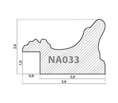 Деревянный багет NA033.1.245, ш: 3.8см в: 2.6см, фото 2