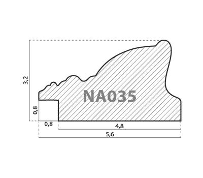 Деревянный багет NA035.1.085, ш: 5.6см в: 3.2см, фото 2