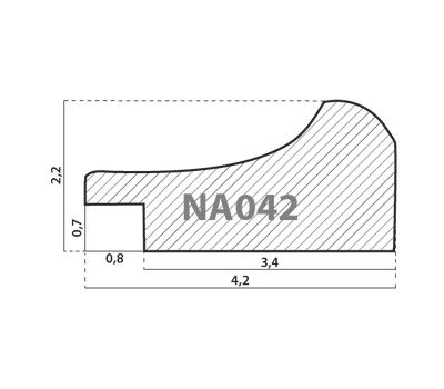 Деревянный багет NA042.1.126, ш: 4.2см в: 2.2см, фото 2