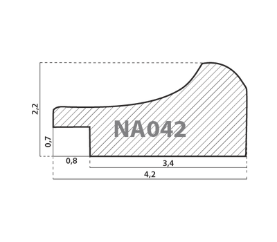 Деревянный багет NA042.1.127, ш: 4.2см в: 2.2см, фото 2