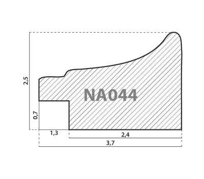 Деревянный багет NA044.0.101, ш: 3.8см в: 2.5см, фото 2