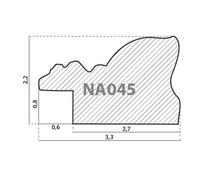 Деревянный багет NA045.1.145, ш: 3.3см в: 2.2см, фото 2