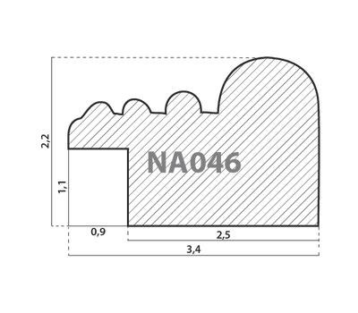 Деревянный багет NA046.0.150, ш: 3.4см в: 2.2см, фото 2