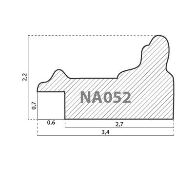 Деревянный багет NA052.0.116, ш: 3.4см в: 2.2см, фото 2