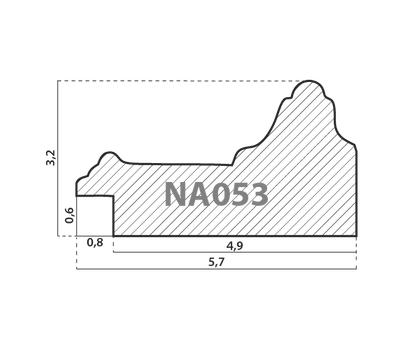 Деревянный багет NA053.0.115, ш: 5.7см в: 3.2см, фото 2