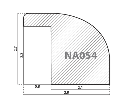 Деревянный багет NA054.0.108, ш: 2.9см в: 2.7см, фото 2