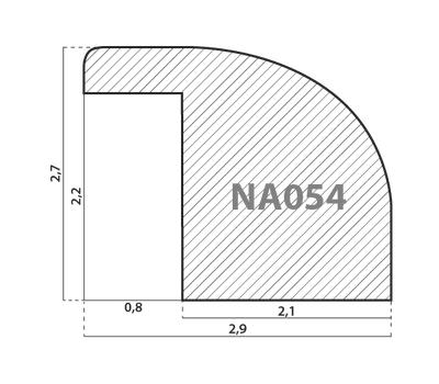 Деревянный багет NA054.0.112, ш: 2.9см в: 2.7см, фото 2