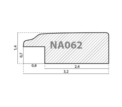 Деревянный багет NA062.0.176, ш: 3.2см в: 1.5см, фото 2
