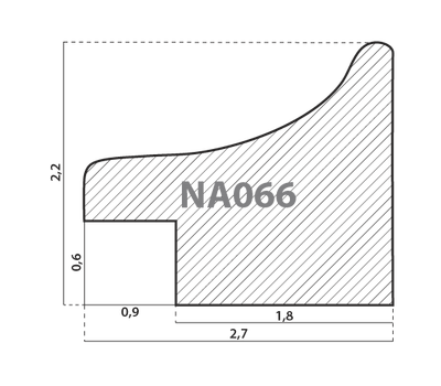 Деревянный багет NA066.0.127, ш: 2.7см в: 2.2см, фото 2