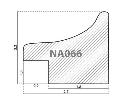 Деревянный багет NA066.0.237, ш: 2.7см в: 2.2см, фото 2