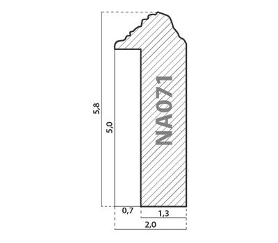 Деревянный багет NA071.0.088, ш: 2см в: 5.8см, фото 2