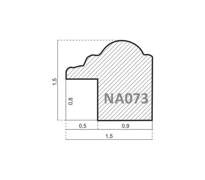 Деревянный багет NA073.0.197, ш: 1.5см в: 1.5см, фото 2