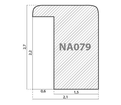 Деревянный багет NA079.0.074, ш: 2.1см в: 2.7см, фото 2