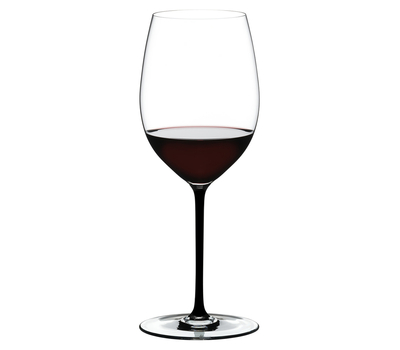 Бокал для красного вина Cabernet/Merlot Riedel Fatto a Mano, 625мл, черная ножка, фото 1