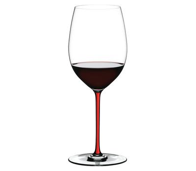 Бокал для вина Cabernet/Merlot Riedel Fatto a Mano, 625мл, красная ножка, фото 1