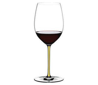 Бокал для красного вина Cabernet/Merlot Riedel Fatto a Mano, 625мл, желтая ножка, фото 1