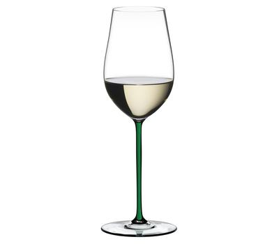 Фужер для вина Riesling/Zinfandel Riedel Fatto a Mano, 395мл, зеленая ножка, фото 1