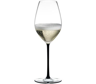 Бокал для шампанского Champagne Wine Glass Riedel Fatto a Mano 445мл, черная ножка, фото 1