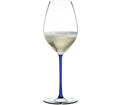 Фужер для шампанского Champagne Wine Glass Riedel Fatto a Mano, 445мл, синяя ножка, фото 1