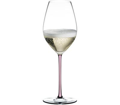 Бокал для шампанского Champagne Wine Glass Riedel Fatto a Mano, 445мл, розовая ножка, фото 1