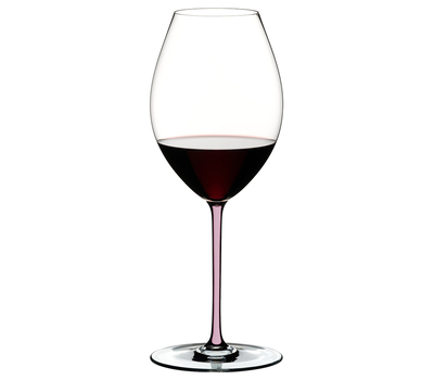 Фужер для вина Old World Syrah Riedel Fatto a Mano, 650мл, розовая ножка, фото 1