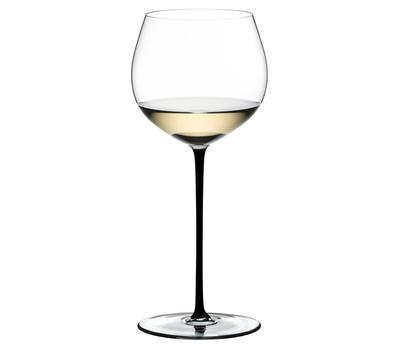 Фужер для вина Oaked Chardonnay Riedel Fatto a Mano, 620мл, черная ножка, фото 1