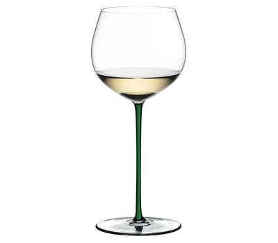 Фужер Oaked Chardonnay Riedel Fatto a Mano, 620мл, зеленая ножка, фото 1