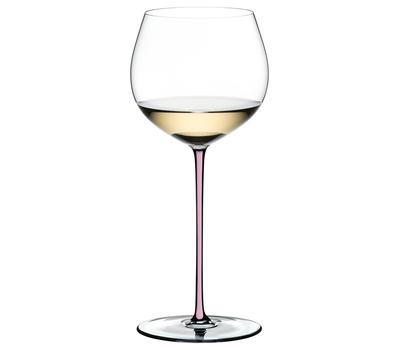 Фужер Oaked Chardonnay Riedel Fatto a Mano, 620мл, розовая ножка, фото 1