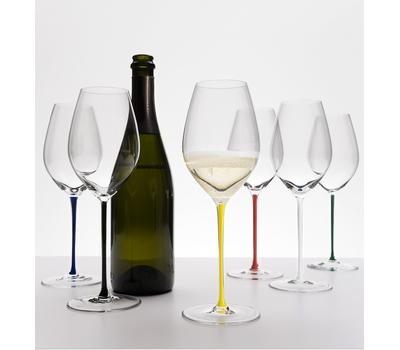 Бокал для шампанского Champagne Wine Glass Riedel Fatto a Mano 445мл, черная ножка, фото 3