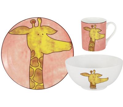 """Набор посуды для детей Anna Lafarg Emily """"Жираф"""" - 3 предмета, фото 1"""