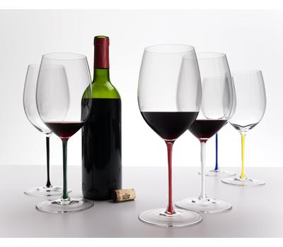 Бокал для вина Cabernet/Merlot Riedel Fatto a Mano, 625мл, красная ножка, фото 3