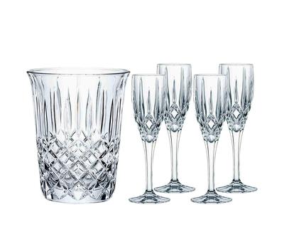 Набор для шампанского Nachtmann Noblesse: 4 фужера и ведёрко, фото 5