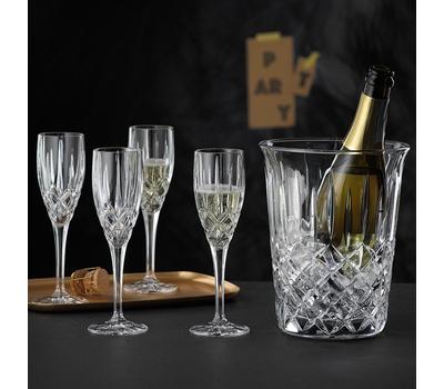 Набор для шампанского Nachtmann Noblesse: 4 фужера и ведёрко, фото 1
