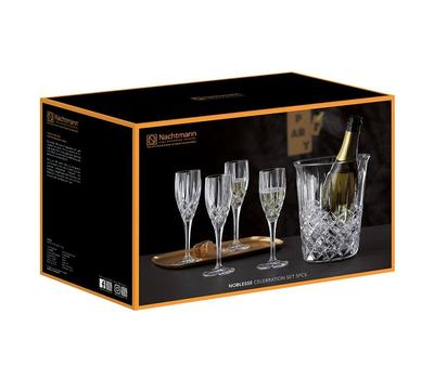 Набор для шампанского Nachtmann Noblesse: 4 фужера и ведёрко, фото 2