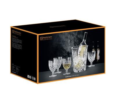 Набор для вина Nachtmann Noblesse: 4 бокала и ведёрко, фото 2