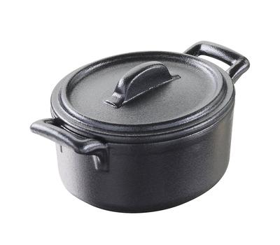 Кокотница овальная Revol Belle Cuisine, черная, 0.25л, 11х10см, фото 1