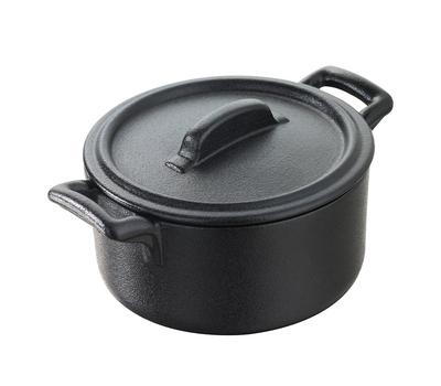 Кокотница Revol Belle Cuisine, черная, 0.2л, 10см, фото 1