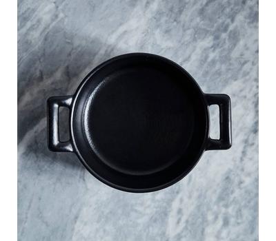 Кокотница Revol Belle Cuisine, черная, 0.2л, 10см, фото 2