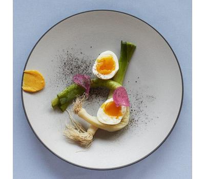 Закусочная тарелка Revol Equinoxe, серая, 24см, фото 2