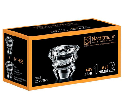 Набор подсвечников Nachtmann Slice, 7см - 2шт, фото 2