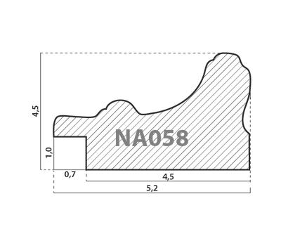 Деревянный багет NA058.2.080, ш: 5.2см в: 3.3см, фото 2