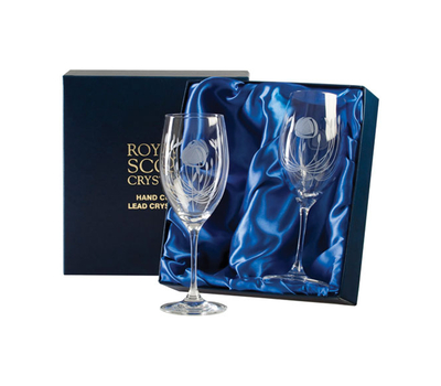 Бокалы для вина Mackintosh Rose Royal Scot Crystal - 2шт, фото 2