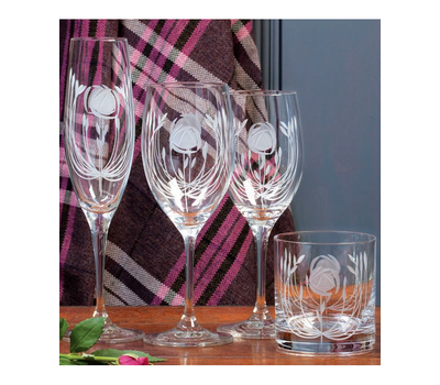 Бокалы для вина Mackintosh Rose Royal Scot Crystal - 2шт, фото 3