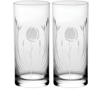 Набор стаканов Mackintosh Rose Royal Scot Crystal, 330мл - 2шт, фото 1
