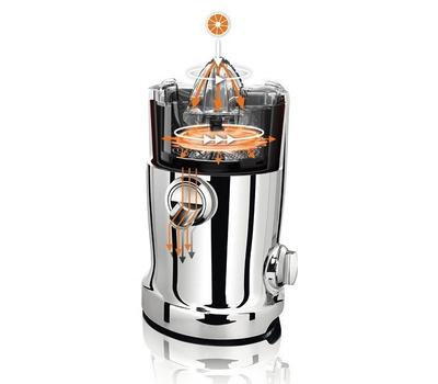 Соковыжималка центробежная Novis Vita Juicer, оранжевая, фото 6